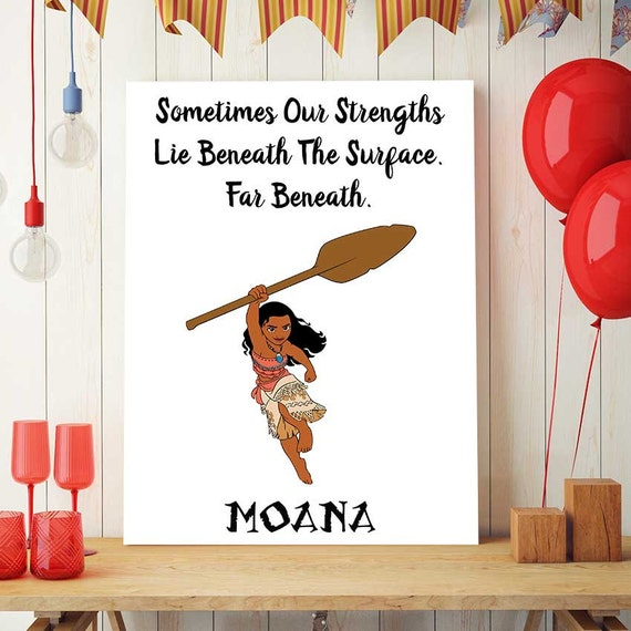 Disney Moana Strength Movie Quote Poster