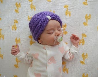 Madame Luna Knitted Baby Turban Hat