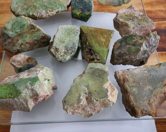 Raw Gaspeite and associate mineral