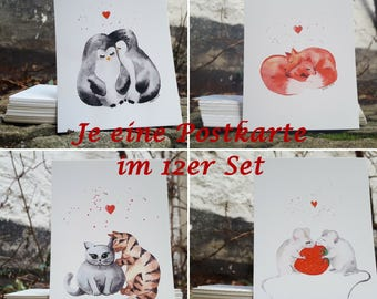 Postcards - 12-set - together are we - A6