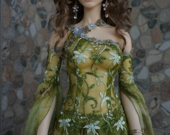 Driada dress set for BJD Fairyland Feeple 65 dolls