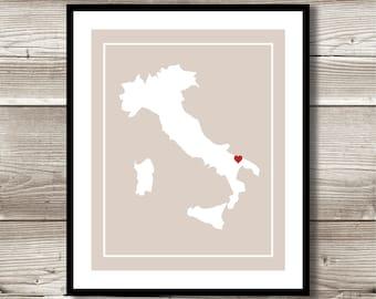 Italy Wall Art, Italy Print, Digital Print, Custom Italy Wall Art, Italy