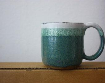 Sea foam mug - beautiful clay pottery - functional handmade stoneware