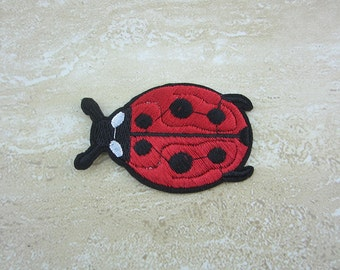 Iron-On Patches, Red Ladybug Appliques