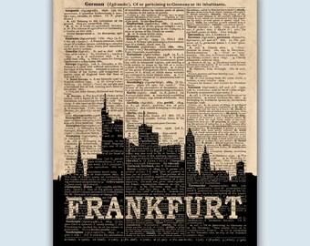Frankfurt Skyline, Frankfurt Wall Art, Frankfurt Wall Decor, Frankfurt Art, Frankfurt Cityscape, Frankfurt Home Decor, Frankfurt Germany