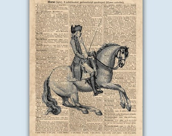 Horse art, Horse Riding Print, Equestrian Decor, Gift for Horse Lover, Horse Riding Poster, Horseback Riding, Equine Art, SKUH2