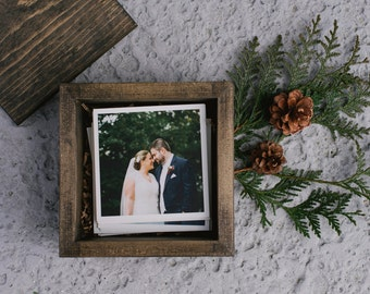 Wooden Photo Box for 5x5 Prints