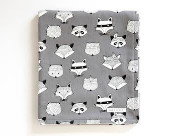 SALE! Black and White Baby Blanket. Gender Neutral Blanket. Swaddle Blanket. Monochrome Blanket. Minky Baby Blanket. Tribal Baby Blanket.