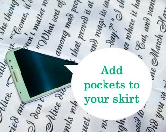 Add pockets to your skirt