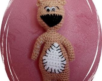 Teddy, bear, Amigurumi, handmade, unique, handmade, OOAK