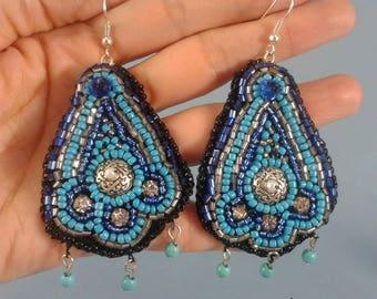 "Earrings ""Turquoise drops"""