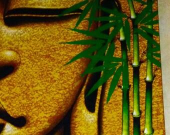 Buddha Painting with Bamboo