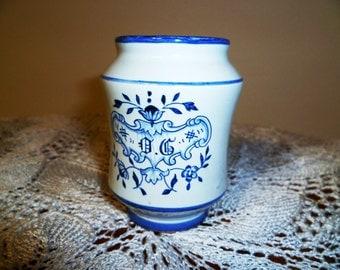Small vintage ceramic jar jar vintage ceramic Deruta Deruta/small