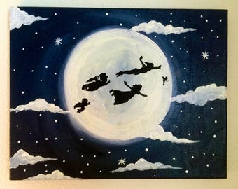 Disney Peter Pan Painting - Glow in the dark