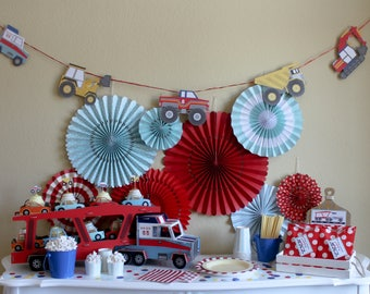 Big Rig Truck Birthday / Party In a Pinch / Party In a Box / Truck Birthday Party / Boy Birthday Party