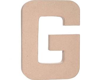 "Paper Mache 12"" Letter G"