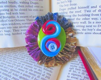 Polymer Clay Jewerly, Bespoke Glam, Shabby Chic, Gypsy Chic, Groovy Boho, Creative Gift, Whimsical Jewelry, Vintage Style Jewelry, Fabric