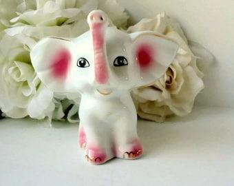 Vintage  animal figurines elephant  animal figurine collectible porcelain figurine home decor small sculpture