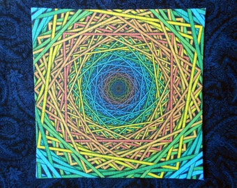 "Blotter Art ""Plexus"" Perforated Print Paper Psychedelic Acid Art Collection"