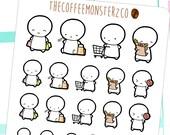 Shopping Emotis  - emoti planner stickers E006