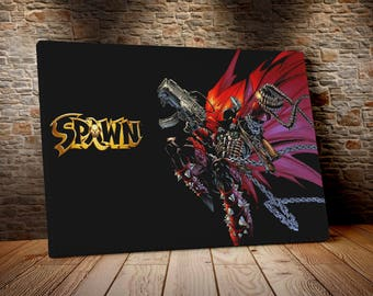 Spawn cm 50 x 70 print on canvas already framed and ready to hang model1