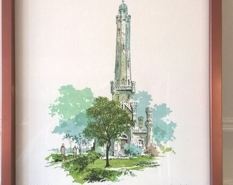 Al Hollenbeck - Water Tower 330/330 Signed Lithography
