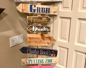 Custom Directional Sign