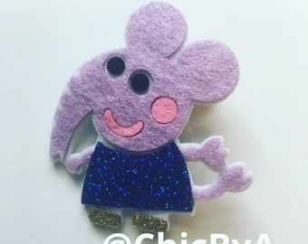 Peppa Pig,Emily Elephant hair bow,Peppa Pig Hair Clip,Peppa Pig Hair Bow,Peppa Pig and friends
