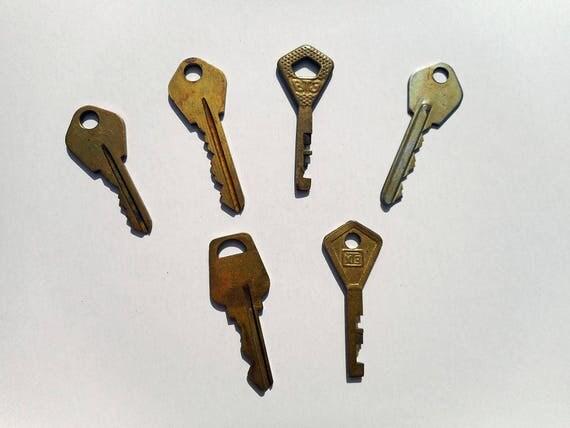 Vintage key decor brass keys industrial rustic