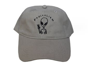 Peace Alien Khaki Hat