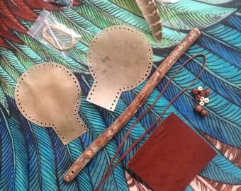 Shamanic Rattle Kit, Deer & Kangaroo Hide