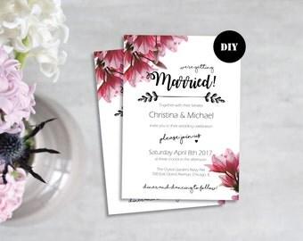 Invitation mariage moderne vierge