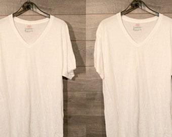 Vintage white v neck