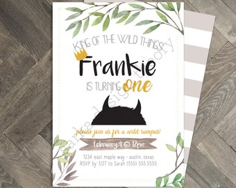 Where The Wild Things Are Invitations • Max Wild Things Storybook Rumpus Printable  • Custom Invite Card • SARKA DESIGN THEORY