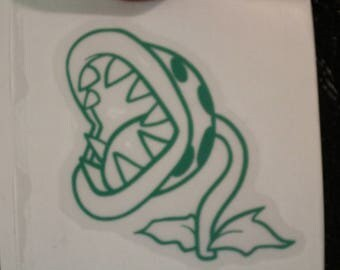 Piranha Plant Outline Mario Mushroom Decal Any Size Any Colors