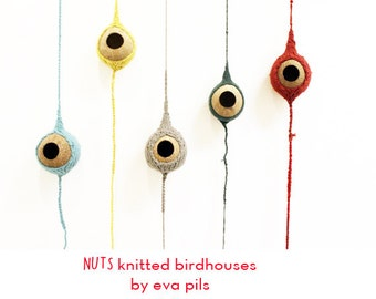 Nuts Coconut Birdhouse : Knitted