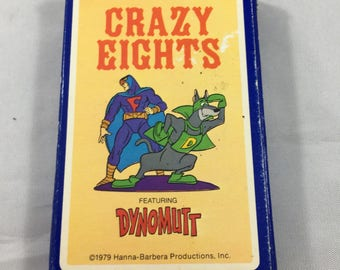 Vintage 1979 Hanna-Barbera Dynomutt Hoyle Stancraft Crazy Eights Card Game