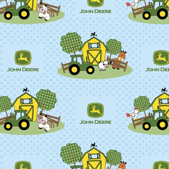 John deer barn yard nursery scenic cotton fabric from springs for Baby nursery fabric yard