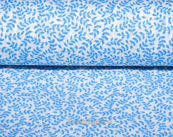 Glorima Blue Leaves - 150 cm wide