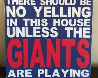 "Wood/Pallet ""New York Giants"" Sign 12 x 12 - Perfect for your Giants Fan"