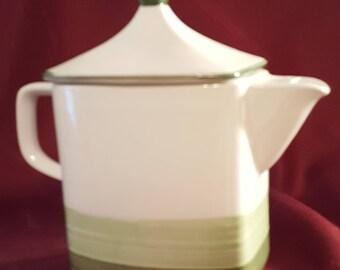 Tru-Stone Fern Green Tea Pot