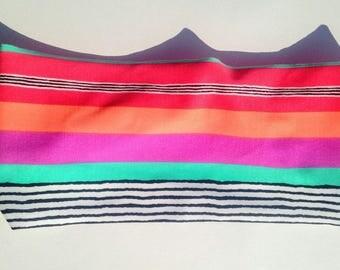 Vintage Color Stripes Running Headband