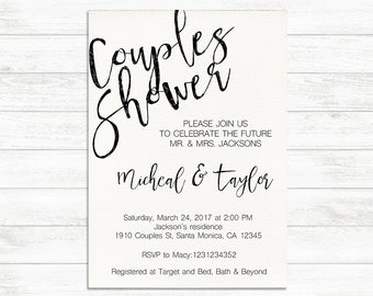 Couples Shower Invitation, Printable Engagement Party Invite, Engagement Couples Invitation, Bridal Shower Invitation, Printable Invitation