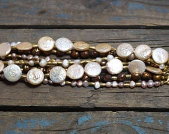 9-Strand Fresh Water Pearl Bracelet