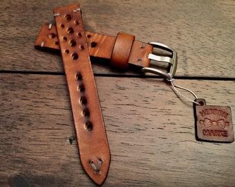 The Hampton - Premium Handmade Racing Inspired Leather Strap