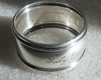 Vintage Sterling Silver Napkin Ring NS Co.