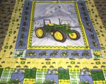 Handmade Quilt Made Using John Deere Fabric