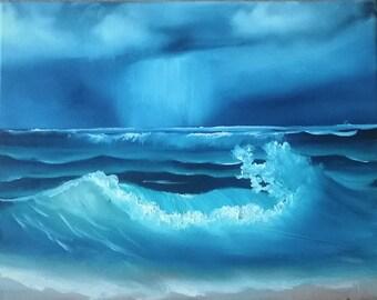 Ocean Storm On the Evening Horizon
