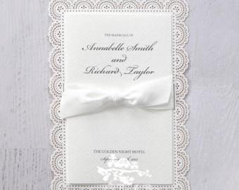 Wedding Invitation | Custom invitations | Unique invitations | Wedding stationery | Elegant invites - Intricate Vintage Lace