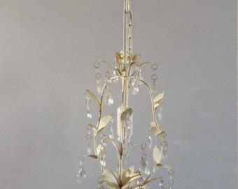 Vintage White Light Hanging Chandelier Hang Lamp Leuchter